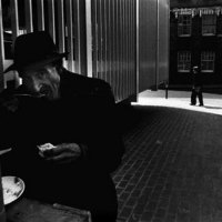 Homeless Man in Whitechapel by Ian Berry