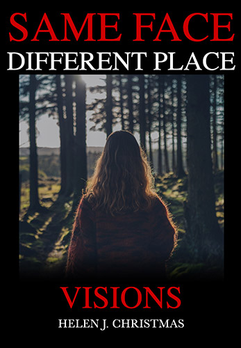 Cover image for SAME FACE DIFFERENT PLACE Visions, psychological thriller set in 1980s Rural England.